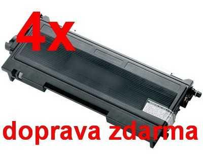 4x kompatibilní toner s Brother TN-2000 (2500 stran) black černý toner pro tiskárnu Brother DCP-7020