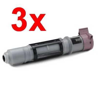 3x kompatibilní toner s Brother TN-8000 black černý toner pro tiskárnu Brother MFC-9160