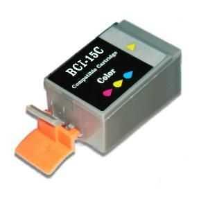 Canon BCI-15C barevná color cartridge kompatibilní inkoustová náplň pro tiskárnu Canon BJC-85