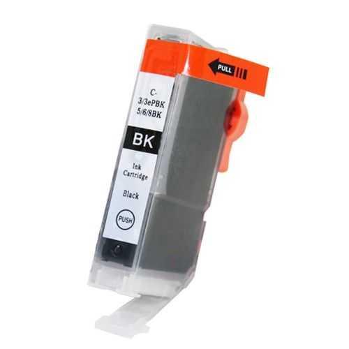 kompatibilní s Canon BCI-6bk black foto cartridge černá inkoustová náplň pro tiskárnu Canon PIXMA iP3000