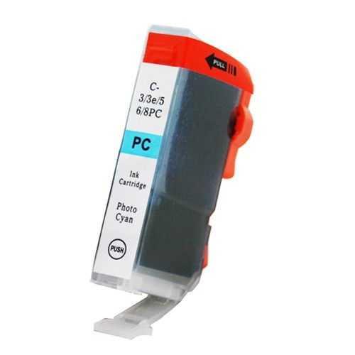 kompatibilní s Canon BCI-6pc photo cyan modrá foto cartridge inkoustová náplň pro tiskárnu Canon PIXMA iP6000D