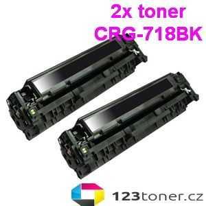 2x kompatibilní toner s Canon CRG-718bk black černý toner pro tiskárnu Canon LBP7200cdn