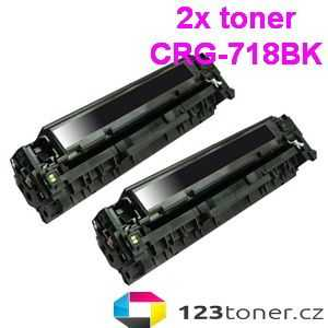 2x kompatibilní toner s Canon CRG-718bk black černý toner pro tiskárnu Canon i-SENSYS MF8350cdn