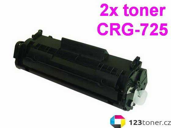 2x kompatibilní toner s Canon CRG-725 (1600 stran) black černý toner pro tiskárnu Canon i-SENSYS MF3010