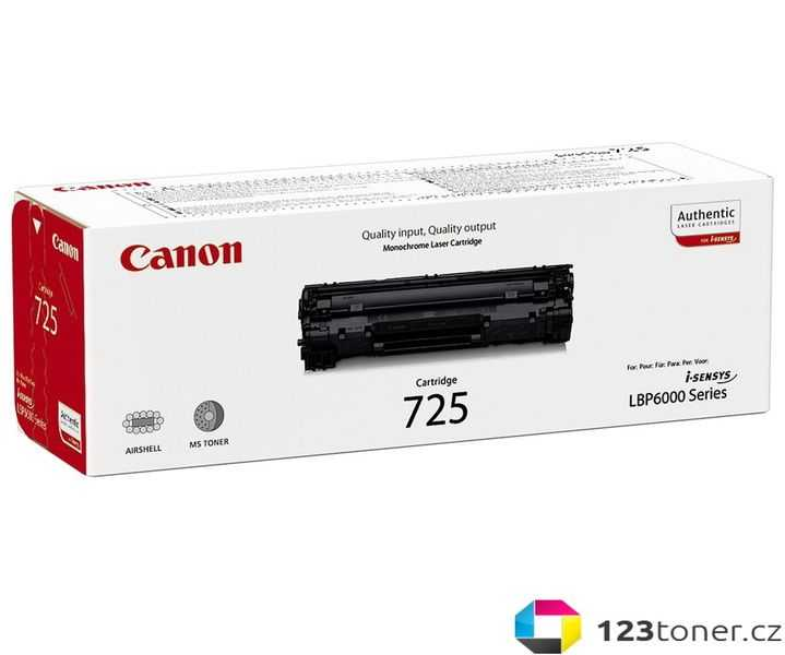 originál Canon CRG-725 (1600 stran) black černý originální toner pro tiskárnu Canon i-SENSYS LBP6000B