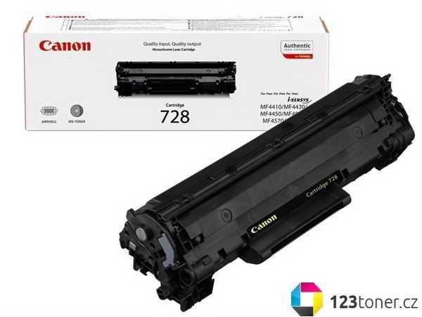 originál Canon CRG-728 (2100 stran) černý originální toner pro tiskárnu Canon MF4570dn