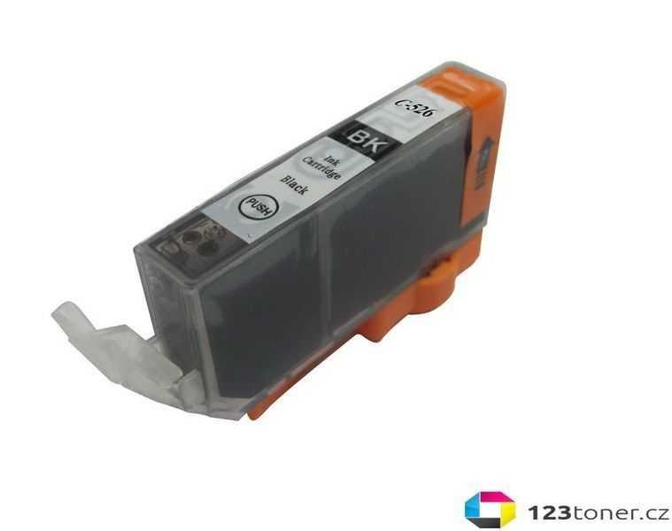 kompatibilní s Canon CLI-526bk black cartridge černá foto inkoustová náplň pro tiskárnu Canon PIXMA iP4950