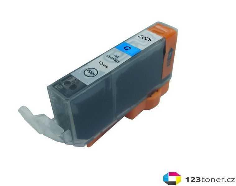 Canon CLI-526c cyan cartridge modrá azurová kompatibilní inkoustová náplň pro tiskárnu Canon Pixma MG5250