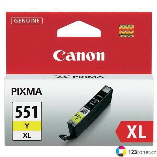 originální Canon CLI-551y XL yellow cartridge žlutá originální inkoustová náplň pro tiskárnu Canon Pixma MG5450