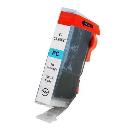 kompatibilní s Canon CLI-8PC foto cyan cartridge azurová modrá s čipem inkoustová náplň pro tiskárnu Canon PIXMA MP970