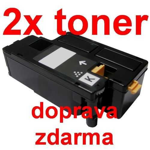 2x kompatibilní toner s Epson C170xx C13S050614 black černý toner černý pro tiskárnu Epson AcuLaser CX17WF