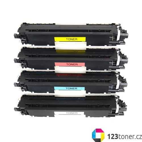 sada tonerů kompatibilních s HP 130A (HP CF350A, CF351A, CF352A, CF353A) - 4x toner pro tiskárnu HP Color LaserJet Pro MFP M177fw