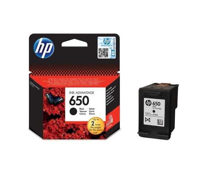 originál HP 650 BK (CZ101AE) black černá originální inkoustová cartridge pro tiskárnu HP DeskJet Ink Advantage 1015