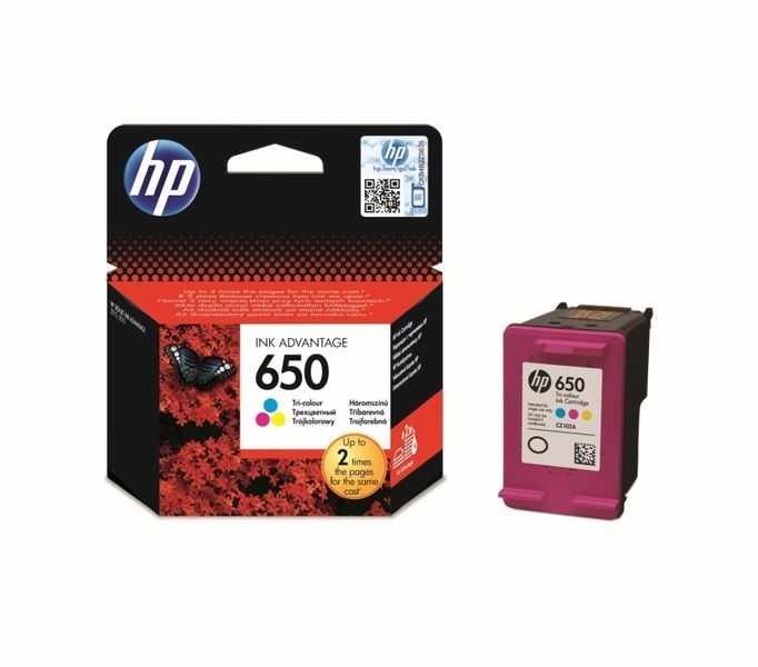 originál HP 650 Color (CZ102AE) barevná originální inkoustová cartridge pro tiskárnu HP DeskJet Ink Advantage 3545