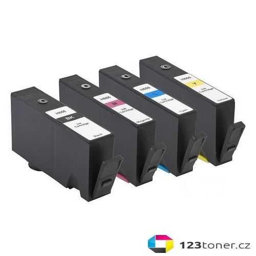 sada HP 655 - 4 kompatibilní inkoustové cartridge pro tiskárnu HP DeskJet Ink Advantage 6525