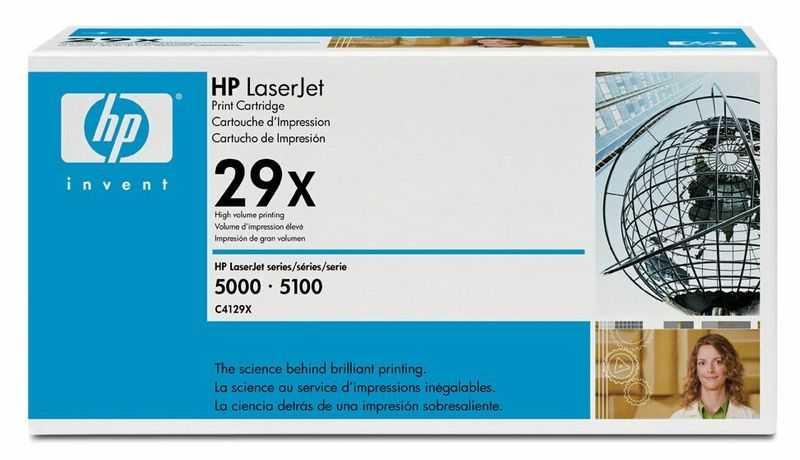 originál HP 29X, HP C4129X (10000 stran) black černý originální toner pro tiskárnu HP LaserJet 5100