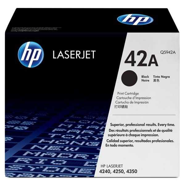 originální toner HP 42A, Q5942A - black černý toner pro tiskárnu HP LaserJet 4350dtnsl