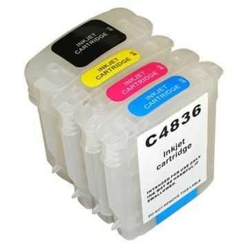 sada HP10 + HP11 cartridge kompatibilní inkoustová náplň pro tiskárnu HP DesignJet 110plus