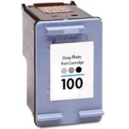 HP 100 (C3968AE) grey šedá cartridge kompatibilní inkoustová náplň pro tiskárnu HP Photosmart C4180