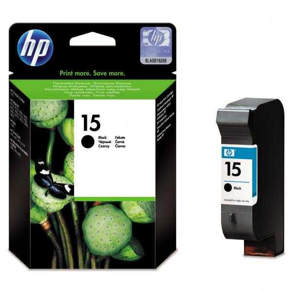 originál HP15 (C6615D) black cartridge černá originální inkoustová náplň pro tiskárnu HP DeskJet 840c