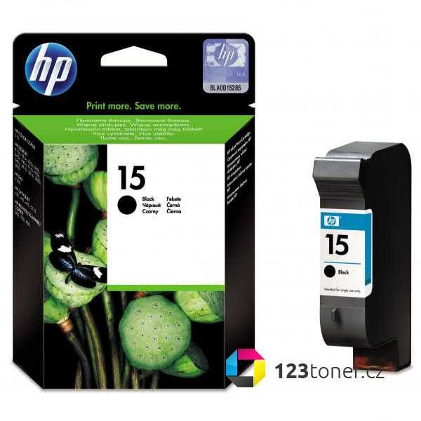 originál HP15 (C6615D) black cartridge černá originální inkoustová náplň pro tiskárnu HP DeskJet 3810