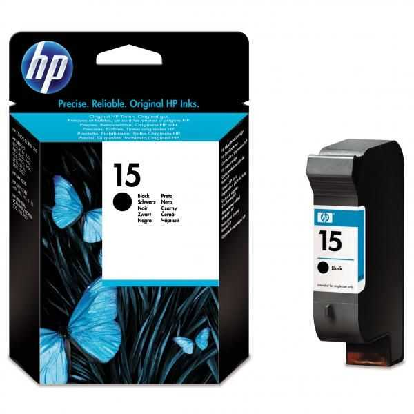originál HP15 (C6615NE) 14 ml black cartridge černá originální inkoustová náplň pro tiskárnu HP DeskJet 840c