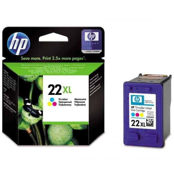 originál HP 22 XL (C9352CE) color cartridge originální barevná inkoustová náplň pro tiskárnu HP PSC 1400