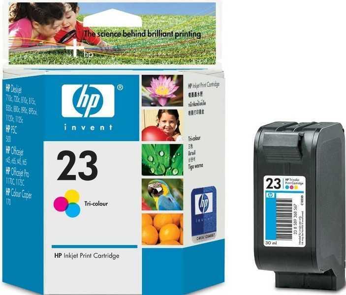 originál HP23 (C1823D) color cartridge barevná originální inkoustová náplň pro tiskárnu HP DeskJet 810c