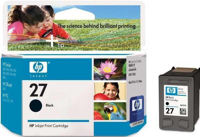 originál HP27 (C8727AE) black černá cartridge orginální inkoustová náplň pro tiskárnu HP PSC 1215