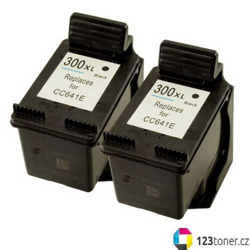 2x HP 300XL black (CC641EE) černá kompatibilní inkoustová cartridge pro tiskárnu HP Photosmart C4680