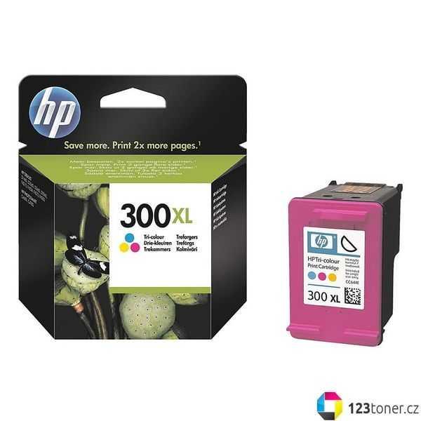 originál HP 300XL color (CC644EE) barevná inkoustová originální cartridge pro tiskárnu HP DeskJet F4210