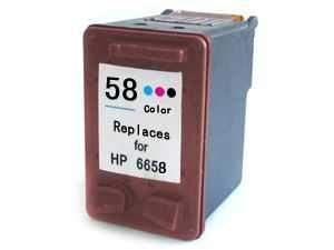 HP 58 (C6658A) foto barevná cartridge kompatibilní inkoustová náplň pro tiskárnu HP OfficeJet 6110