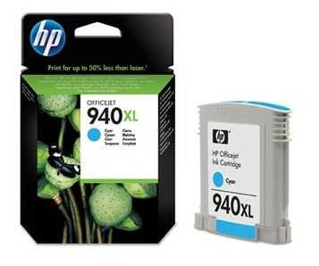 originální HP 940XL (C4907AE) cyan azurová modrá originální inkoustová cartridge pro tiskárnu HP OfficeJet Pro 8500a