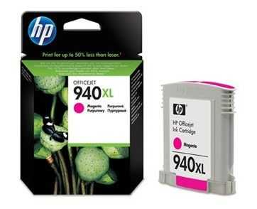 originální HP 940XL (C4908AE) magenta purpurová červená originální inkoustová cartridge pro tiskárnu HP OfficeJet Pro 8500a