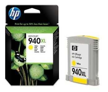 originální HP 940XL (C4909AE) yellow žlutá originální inkoustová cartridge pro tiskárnu HP OfficeJet Pro 8500a Plus
