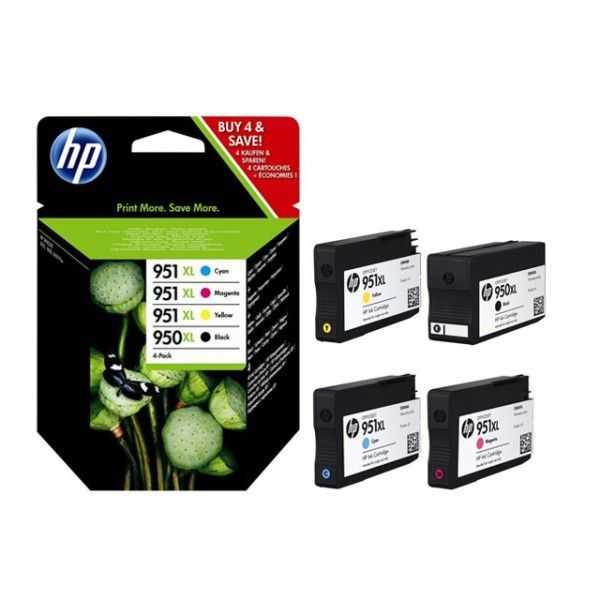 originální sada HP 950XL-951XL (950XL-BK,951XL-C,951XL-M,951XL-Y) originální inkoustová cartridge pro tiskárnu HP OfficeJet Pro 8630
