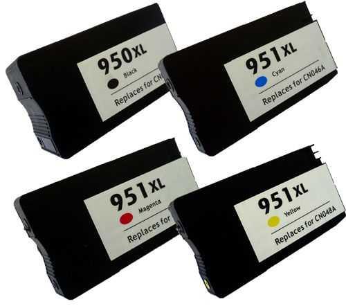 sada HP 950XL-951XL (950XL-BK,951XL-C,951XL-M,951XL-Y) kompatibilní inkoustová cartridge pro tiskárnu HP OfficeJet Pro 8600
