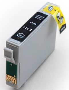kompatibilní s Epson T0711 black cartridge černá kompatibilní inkoustová náplň pro tiskárnu Epson Stylus SX400