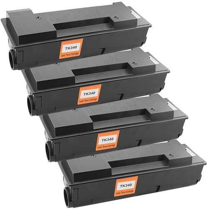 4x kompatibilní toner s Kyocera TK-340 black černý toner pro tiskárnu Kyocera FS-2020DN