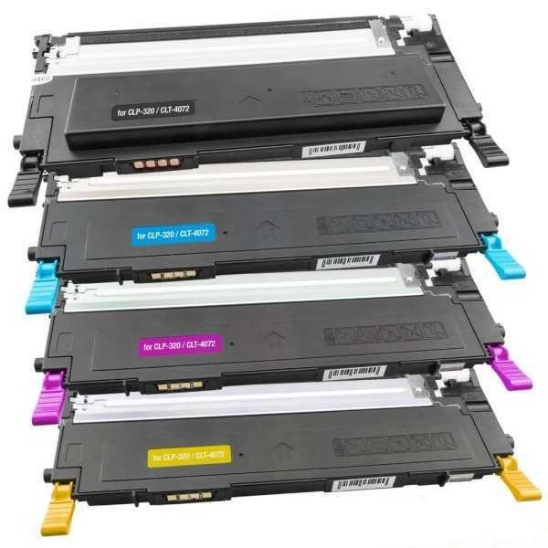 sada kompatibilních tonerů s Samsung CLT-P4072C (CLT-K4072S, CLT-C4072S, CLT-M4072S, CLT-Y4072S) 4x tonery pro tiskárnu Samsung CLX-3185W