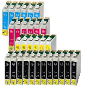 30 kazet - sada kompatibilní s Epson T1285 (T1281, T1282, T1283, T1284) cartridge inkoustové náplně pro tiskárnu Epson Stylus SX430W
