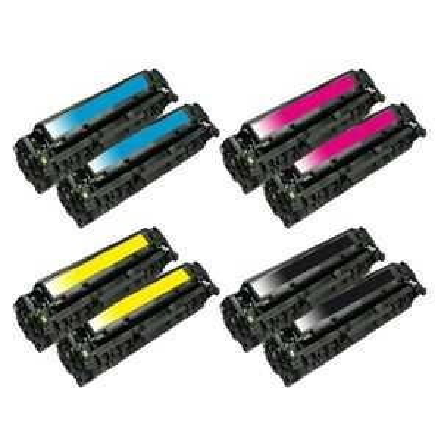 2x kompatibilní sada tonerů s HP 304A (HP CC530A, CC531A, CC532A, CC533A) - 8x toner pro tiskárnu HP Color LaserJet CP2025dn