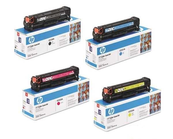 originální sada tonerů HP 304A (HP CC530A, CC531A, CC532A, CC533A) originální tonery pro tiskárnu HP Color LaserJet CM2320fxi mfp