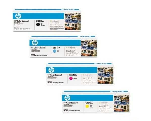 originální sada HP 125A (HP CB540A, CB541A, CB542A, CB543A) originální tonery pro tiskárnu HP Color LaserJet CP1515n