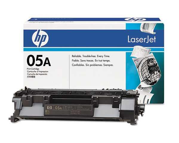 originál HP 05A, HP CE505A černý originální toner pro tiskárnu HP LaserJet P2035