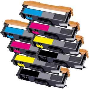 2x kompatibilní toner s tonerů Brother TN-325BK, TN-325C, TN-325M, TN-325Y - 8x tonery pro tiskárnu Brother MFC-9560CDW