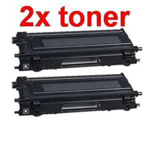 2x kompatibilní toner s Brother TN-135BK black černý toner pro tiskárnu Brother HL-4070CDW