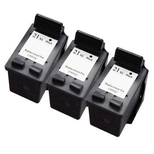 3x HP 21XL (C9351CE) black cartridge černá kompatibilní inkoustová náplň pro tiskárnu HP DeskJet D1560