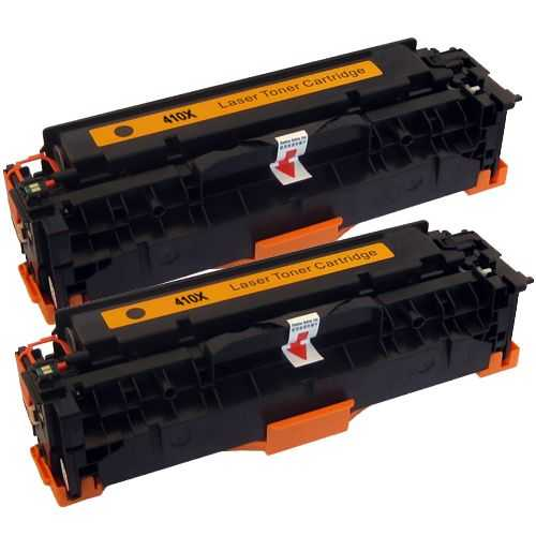 2x kompatibilní toner s HP CE410X (HP 305A) black černý toner pro tiskárnu HP LaserJet Pro 400 M475dw