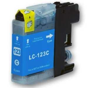 Brother LC-123 C cyan cartridge modrá azurová kompatibilní inkoustová náplň pro tiskárnu Brother MFC-J870DW
